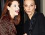 Simona Borioni e Rosalinda Celentano scherzano coi fotografi intervenuti