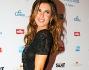 Elisabetta Canalis in un sexy abito nero di pizzo lungo ha posato per i fotografi