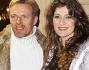 Veronica Maccarrone e Kaspar Capparoni al compleanno di Monica Scattini