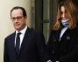 Carla Bruni e Nicolas Sarkozy insieme al Presidente Francois Hollande