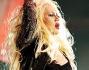 Christina Aguilera durante il concerto per Michael Jackson