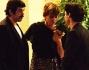 Pierfrancesco Favino, Marco Cocci e Claudia Pandolfi chiacchierano dopo la presentazione del film