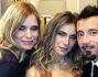 Eleonora Pedron e Max Biaggi con Filippa Lagerback