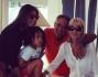 Un quadretto famigliare riunito: Elisabetta Grecoraci con Nathan Falco, il padre Mario e la zia Rita