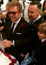 Elton John e David Furnish si sono sposati di nuovo: foto