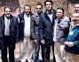 Emanuele Filiberto di Savoia insieme ai dipendenti della TopCon che si occupano del restauro della Villa dei misteri
