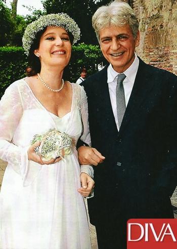 Al settimo cielo i due neo sposini fabrizio bentivoglio e for Patrizia rossetti marito