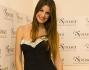 Francesca Fioretti bellissima in abito nero lungo con inserti preziosi