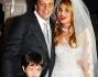 Gabriele Muccino ed Angelica Russo con la figlia Penelope ed il figlio di lei Silvio Leonardo