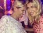 Raffaella Zardo insieme all'amica al compleanno di Tommaso Buti