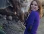 Geri Halliwell con la giraffa alla zoo di Sydney
