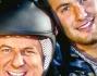 Sempre uniti anche nel lavoro: Gerry Scotti con il figlio Edoardo durante 'Lo show dei record' nel 2011