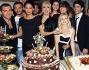 Anna Tatangelo, Marco Del Vecchio, Bobo Vieri, Milly Carlucci, Gil Andres, Anastasia Kuzmina  e gli altri della ciurma di Ballando al taglio della torta