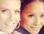 Heidi Klum insieme alla collega Mel B in attesa di giudicare le esibizioni dei talenti