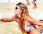 Giocatrice provetta di beach tennis per Gaia Lucariello