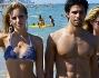 Irene Cioni sul litorale insieme a Mister Italia 2013 Luca Onestini