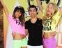 Joe Jonas con gli Angeli Chanel Iman e Elsa Hosk