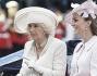 Camilla Parker Bowles in carrozza con Kate Middleton e il Principe Harry