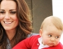 Kate Middleton con il principino George Alexander Louis in braccio
