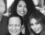 Kim Kardashian con Azzedine Alaia, Afef e Pedro Almodovar