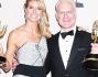 Heidi Klum insieme al co-presentatore del talent show Tim Gunn