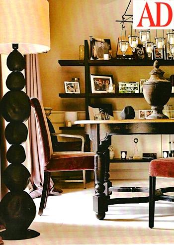 La zona pranzo del soggiorno di belen foto e gossip for Riviste di case