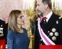 La Regina Letizia Ortiz di Spagna con il marito il re Felipe VI