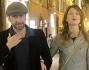 Avvistata per il Centro di Roma Marina La Rosa insieme al marito Guido Bellitti