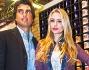 Martina Stella e Lorenzo Nencini al padiglione U.S. Polo a Pitti Uomo