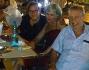 Massimo Di Cataldo a cena con amici e la fidanzata Adele Ceraudo