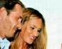 Maurizio Aiello con la moglie Ilaria Carloni durante il battesimo della piccola Ludovica