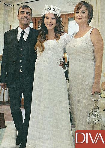 Micol olivieri il abito da sposa con i genitori prima - Diva e donne giornale ...