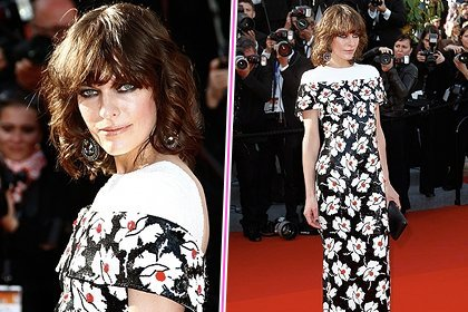 Milla Jovovich in Chanel sul red carpet al Festival di Cannes 2013: foto