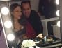 Naike Rivelli al trucco e parruccon con Antonio Mazzola
