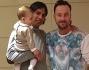 Simone Inzaghi con il figlio Lorenzo e Francesco Facchinetti a casa Marcuzzi