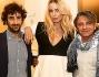 Nina Moric con Alessio Calabrò e Roberto Casassa