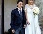Escono dalla chiesetta di Caracalla a Roma finalmente sposi Eva Henger e Massimliano Caroletti