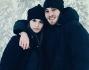 Paolo Ciavarro con la sua Alicia Bosco sulla neve a Madonna di Campiglio