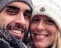 Federica Pellegrini e Filippo Magnini felici sotto la neve