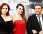 Penelope Cruz posa con Sergio Castellitto e Margaret Mazzantini