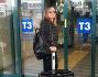 Paola Perego a Fiumicino pronta per andare negli States