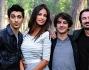 Fabrizio Biggio, Francesco Mandelli e Madalina Ghenea con il regista