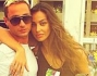 Pietro Tavallini insieme alla bella modella Madalina Ghenea anche lei pronta a fare il tifo