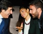 Raffaella Fico e Gialuca Tozzi durante la serata scambiano qualche parola con Urbano Cairo
