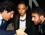 Raffaella Fico, Gianluca Tozzi ed Urbano Cairo all'11 eleven Club di Milano