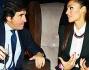 Raffaella Fico mentre discute con Urbano Cairo editore