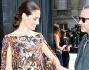 Eros Ramazzotti e Marica Pellegrinelli hanno partecipato al Valentino Fashion Show