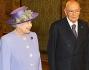 La classica foto di rito: La Regina Elisabetta, Giorgio Napolitano, Clio Napolitano ed il Principe Filippo