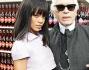 Rihanna e Karl Lagerfeld al supermarket Chanel