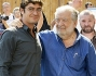 Riccardo Scamarcio insieme al regista Pupi Avati in centro a Roma